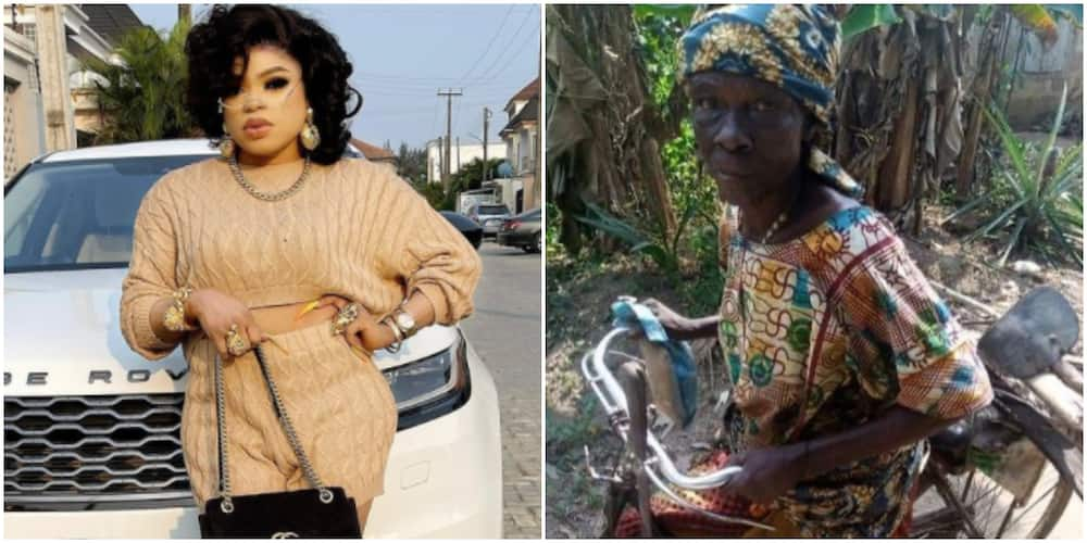 Goodluck is a fraudster: Bobrisky reacts to claims that he dumped the young man and his grandma in the village