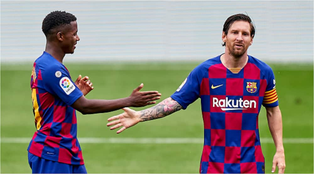 Ansu Fati claims Messi has been in a huge influence to him