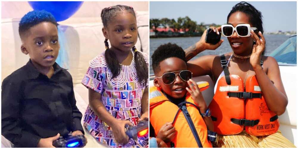 Tiwa Savage at 41: Davido's daughter Imade and Jamil render lovely birthday song for singer