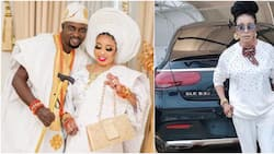 Is this all an Ibadan man can give me? Lizzy Anjorin asks as hubby buys her Mercedes Benz as push gift
