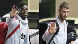 Man United stars arrive camp base ahead of Brighton clash (photo)
