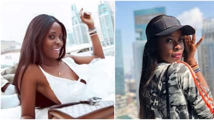 BBNaija Khloe crashes new car gift from Obafemi Martins in ghastly accident, thanks God for life (photo)