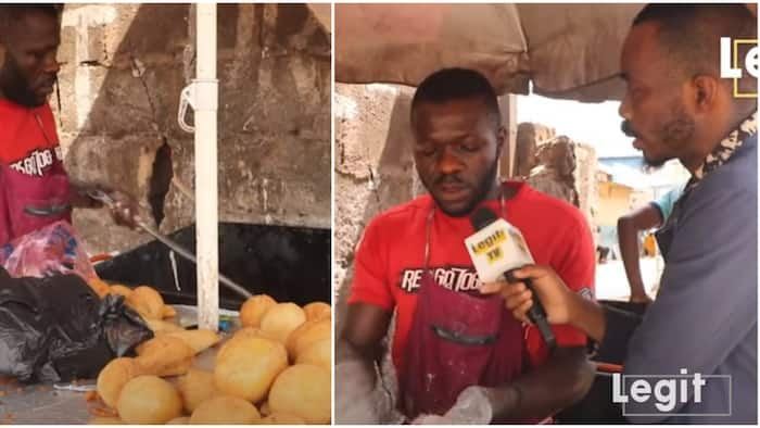Nigerian man quit his stay in Russia, now a puff-puff vendor in Enugu, he shares his touching story
