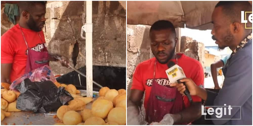 Nigerian Man Quit His Stay in Russia, Now a Puff Puff Vendor in Enugu, Shares His Touching Story