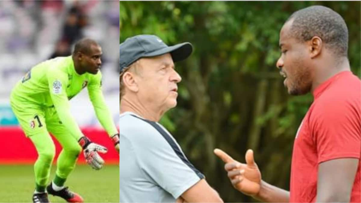 Vincent Enyeama, former Nigerian goalkeeper, visits Super Eagles training ground in Uyo - Latest News in Nigeria & Breaking Naija News 24/7 | LEGIT.NG