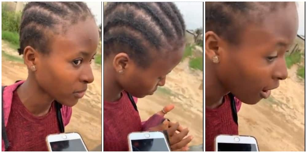 Young Nigerian Girl Perfectly Imitates Oyinbo Accent as in Viral Video, Many React