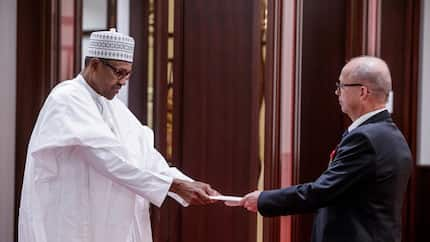 JUST IN: President Buhari receives letter of credence from Finland, France, Czech Republic (photos)