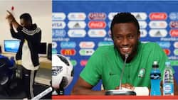 Rare video of Super Eagles legend Mikel dancing in the studio emerges and fans love it