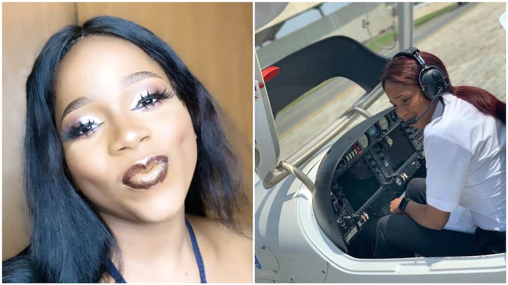 Nigerian lady achieves dream, becomes a pilot as she get her licence to fly