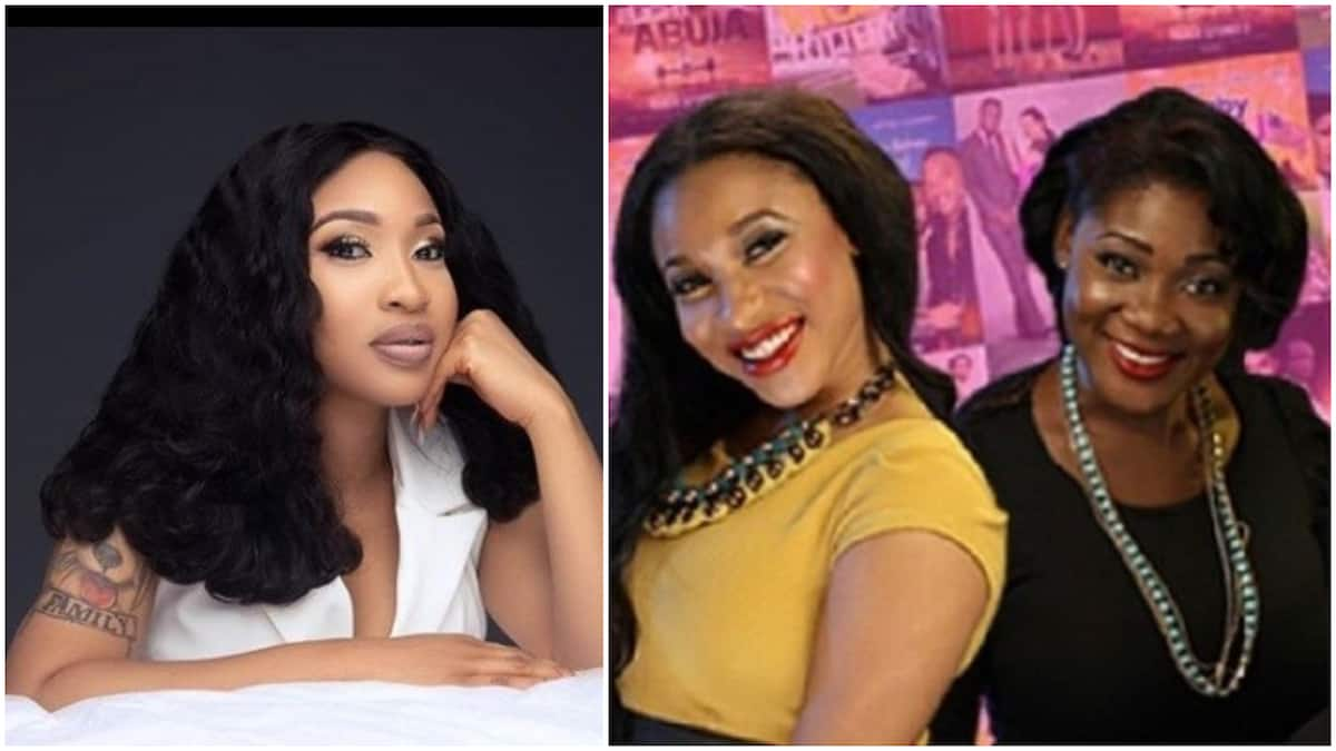Image result for Tonto Dikeh Reveals What Caused Her Fight With Mercy Johnson