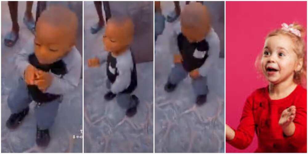 Nigerians react to video of kid doing the focus dance and legwork as he vibed to Ko Por Ke