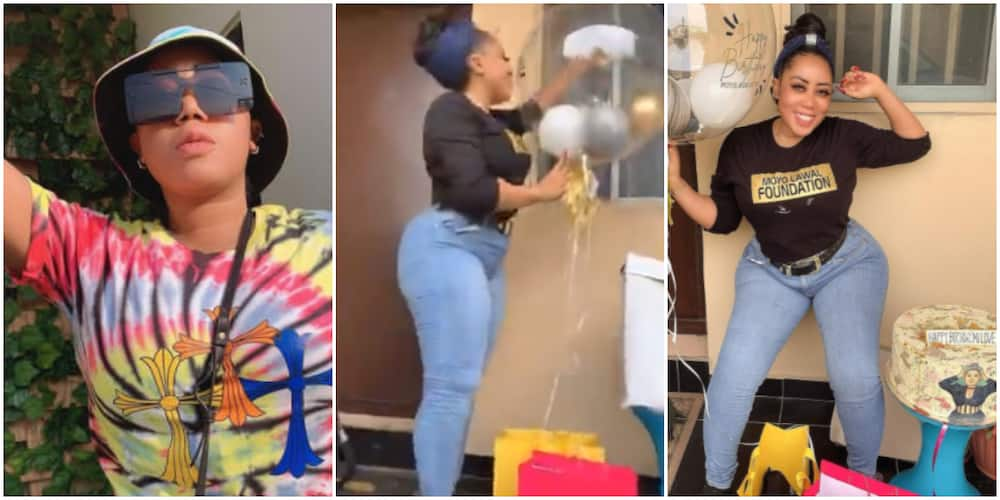 Actress Moyo Lawal gets surprised on her birthday (photo, video)