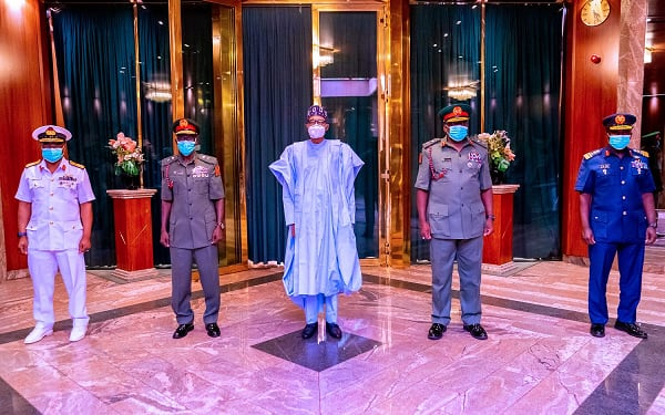 Buhari clears air on appointment of service chiefs, says no law was violated