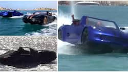 Three friends produce car that can drive on water using local materials, video wows many