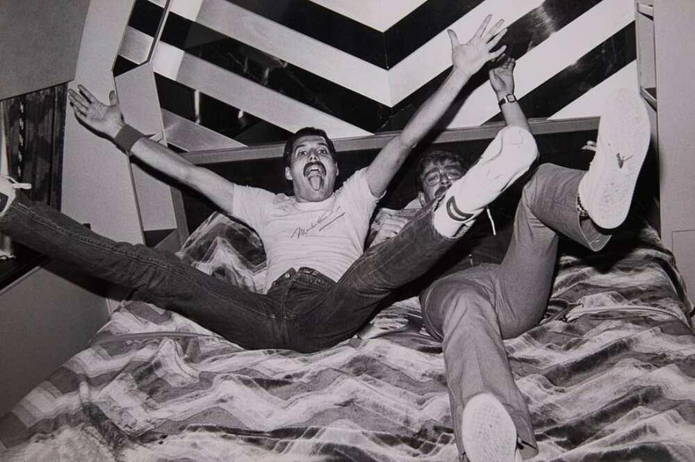 Paul Prenter and Freddie Mercury