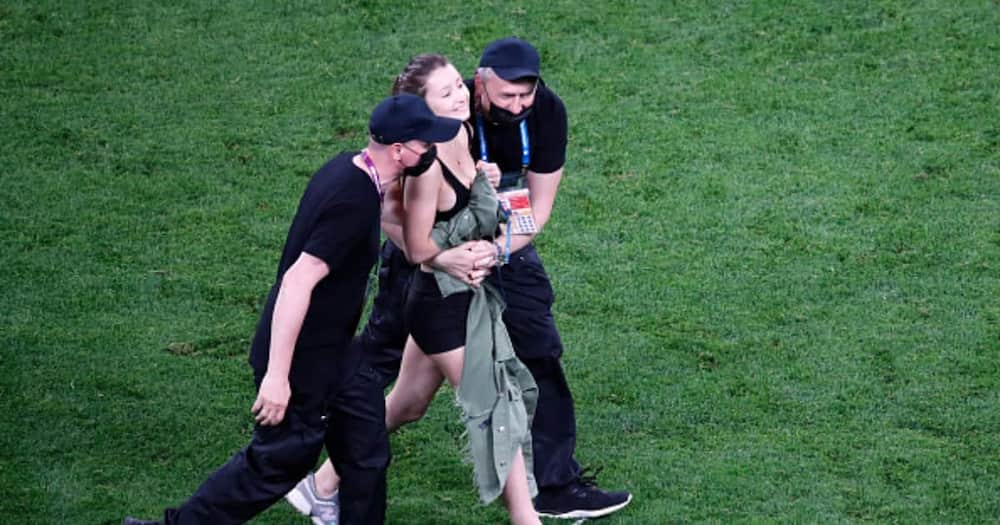 Finland vs Belgium Euro 2020 Clash Interrupted as Scantily Clad Woman Invades Pitch