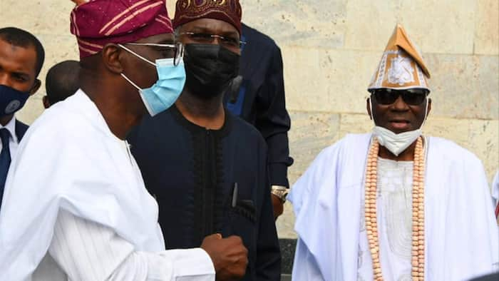 Lagos monarch Oba Akiolu makes first public appearance weeks after his palace was vandalised, read what he says (photos)