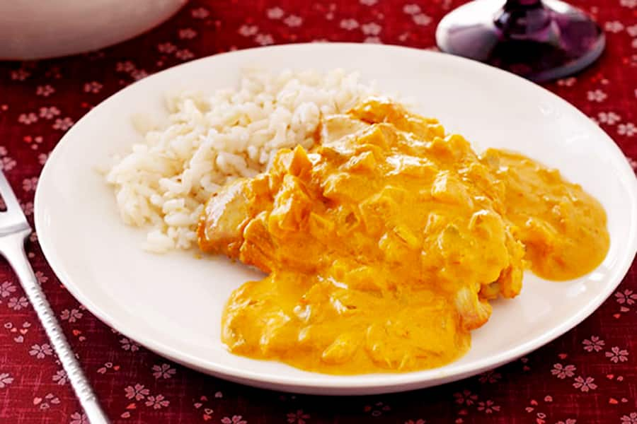 How to prepare chicken stew sauce for rice