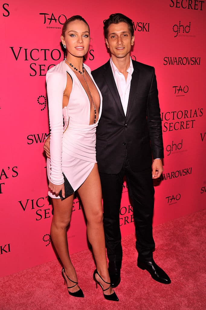 Candice Swanepoel and Hermann Nicoli at the 2013 Victoria's Secret Fashion Show