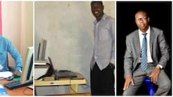 Nigerian man whose girlfriend left when he turned jobless becomes CEO, shares photo of his look when she quit