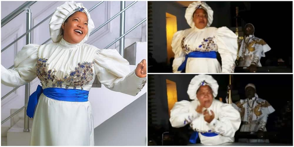 Actress Toyin Abraham's Grand Entrance to Venue of Movie Premiere in Lagos