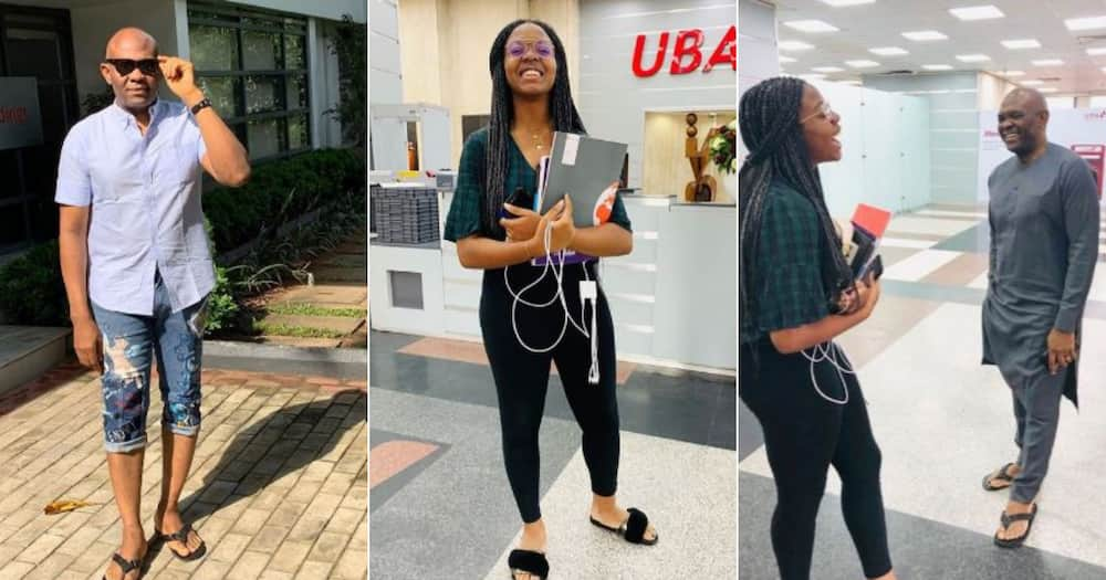 Tony Elumelu: Wealthy businessman shares photos of his daughter working with him on Sunday