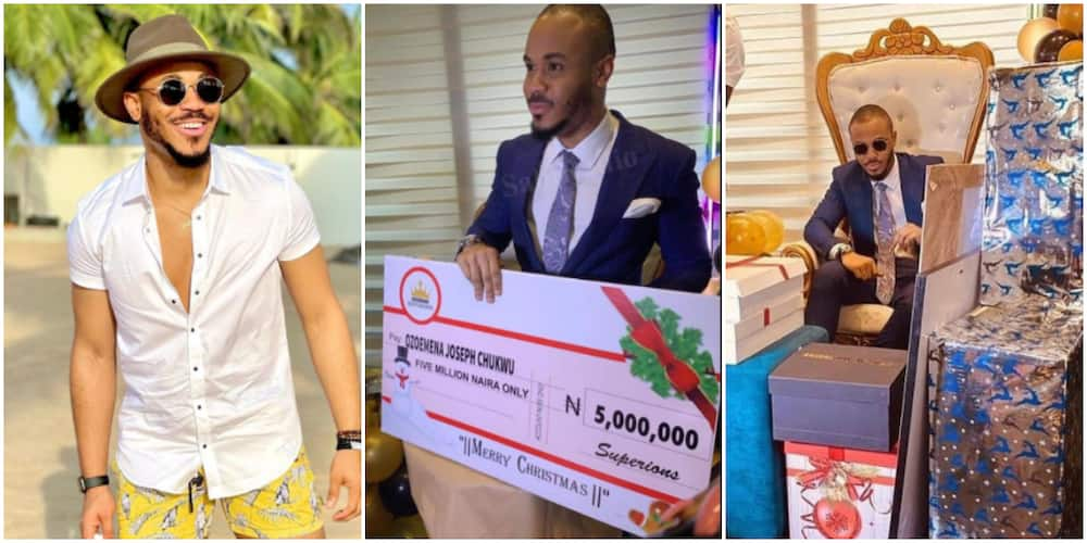 BBNaija: Fans shower Ozo with gifts and cash (photo)