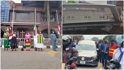 Prophet TB Joshua's lying-in-state service holds, photos & video emerge, many gather