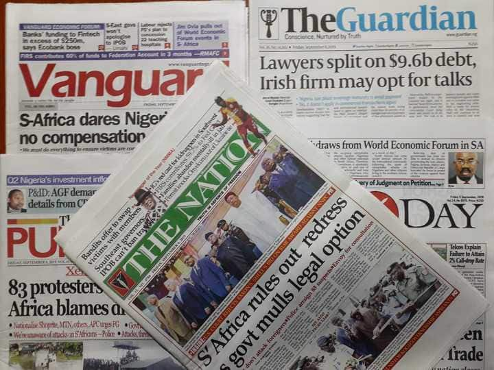 Xenophobia: $60bn trade between Nigeria, S/Africa in jeopardy (Newspaper Review)