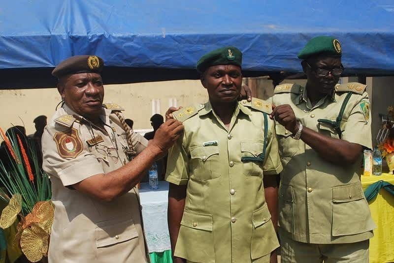 What are the Nigerian Prisons Service ranks