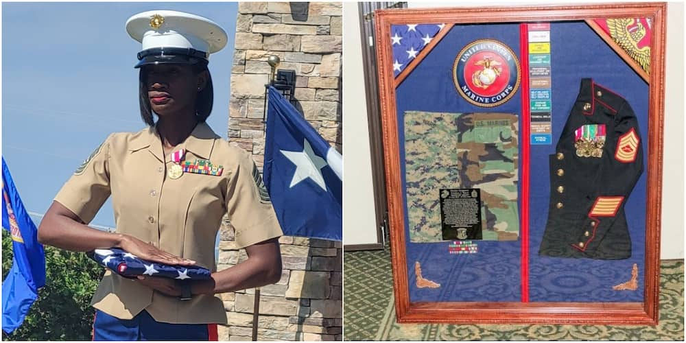 Celebration Galore for Nigerian Woman as She Retires from US Marine Corps after 20 Years of Service
