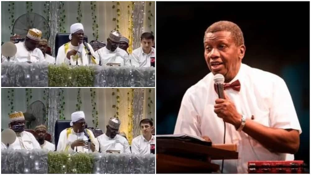 Popular Islamic cleric Farooq Onikijipa prays for Pastor Adeboye after son's death during Ramadan lecture