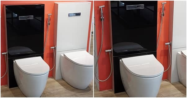 Huge reactions as Nigerian man shares photos of his luxury toilet that costs 700k