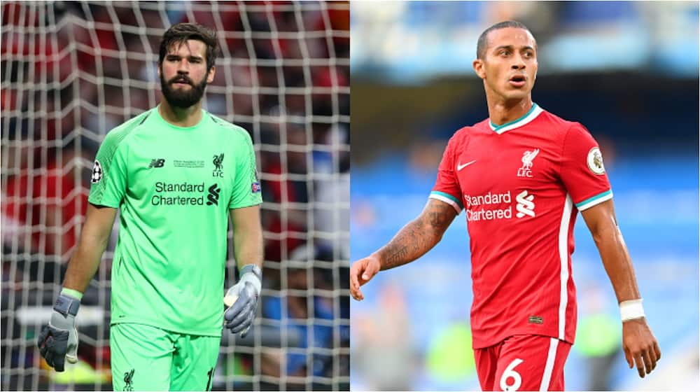Liverpool: Alisson, Alcantara Set To Miss Arsenal Tie After Suspected injuries