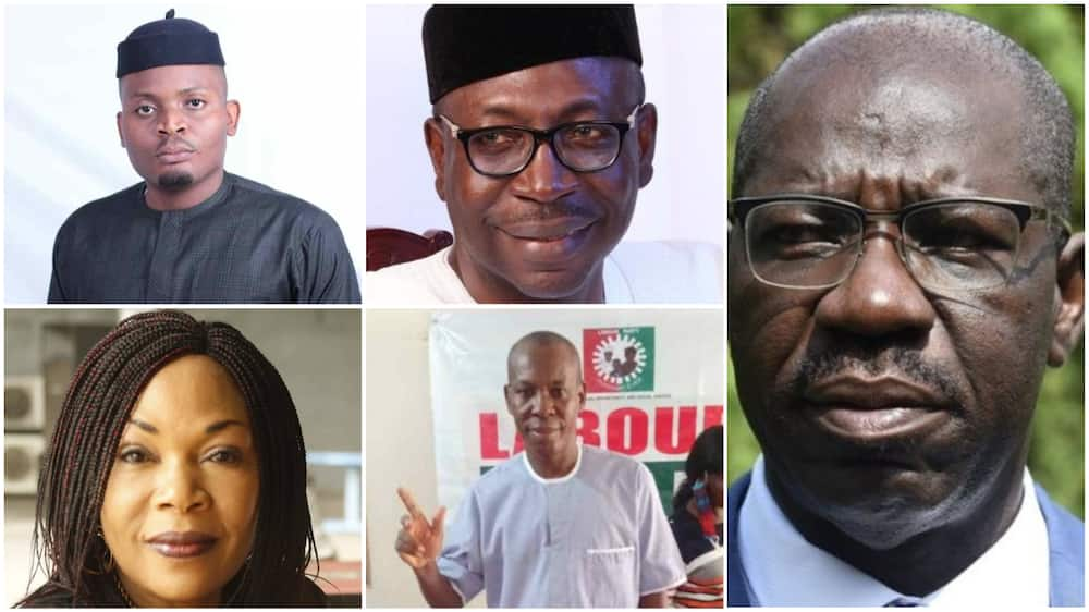 Top five candidates contesting Edo governorship election