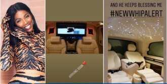 Tiwa Savage uses N15 million to clear her N60m customised Mercedes Benz v250, 2019 model (video)