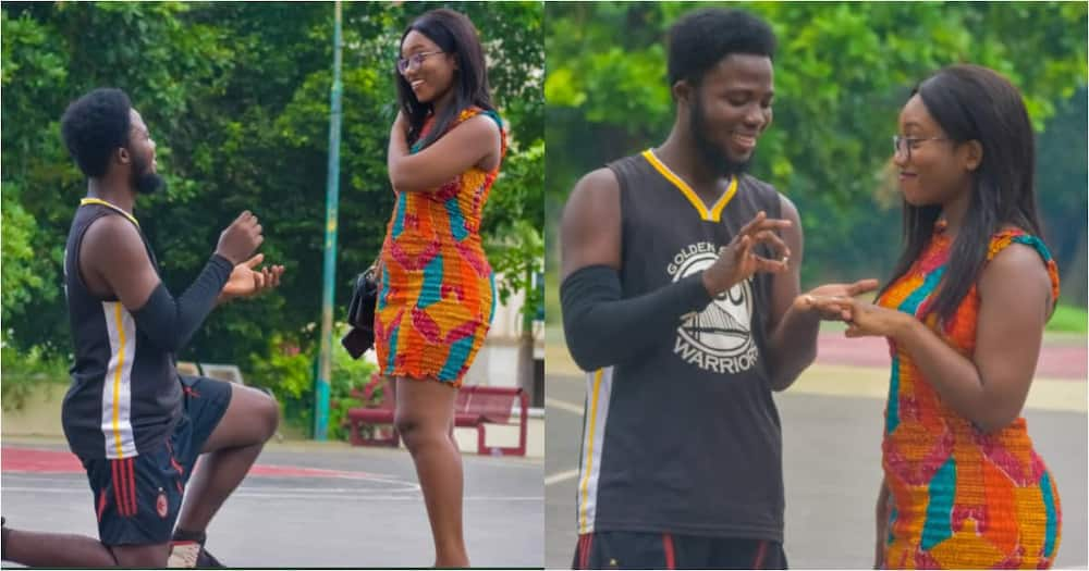 Handsome Man Proposes to Pretty Girlfriend