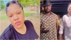 I beat my husband: Toyin Abraham brags as she wrestles with Kolawole Ajeyemi in cute video