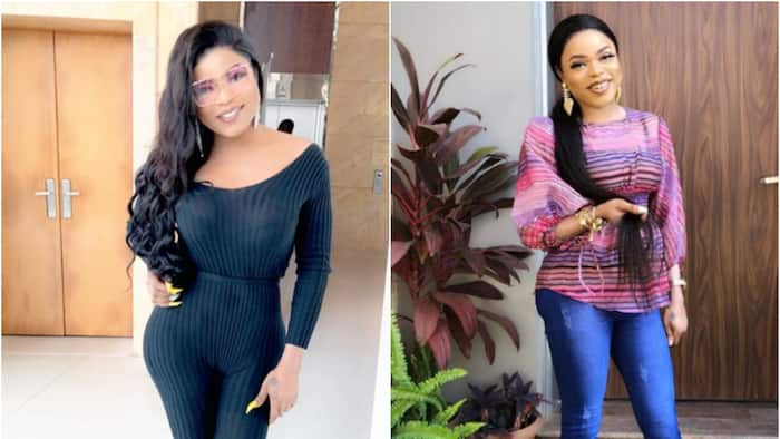 Bobrisky claims he now has real oranges on his chest