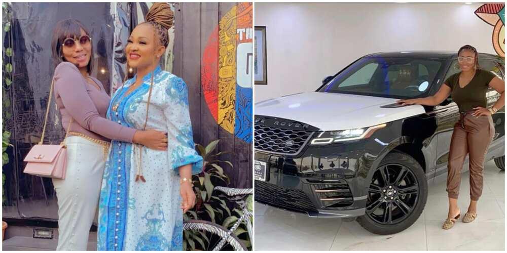 Celebrity designer Abike Domina cops new Range Rover, actress Mercy Aigbe celebrates her