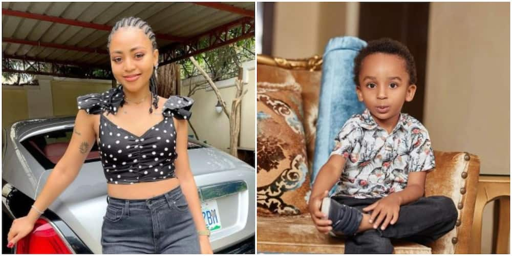 Nollywood actress Regina Daniels and her stepson Sultan