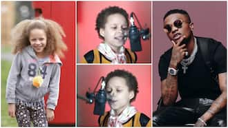'Oyinbo' kid sings Wizkid's Blessed song with sweet voice, her cute video breaks the internet