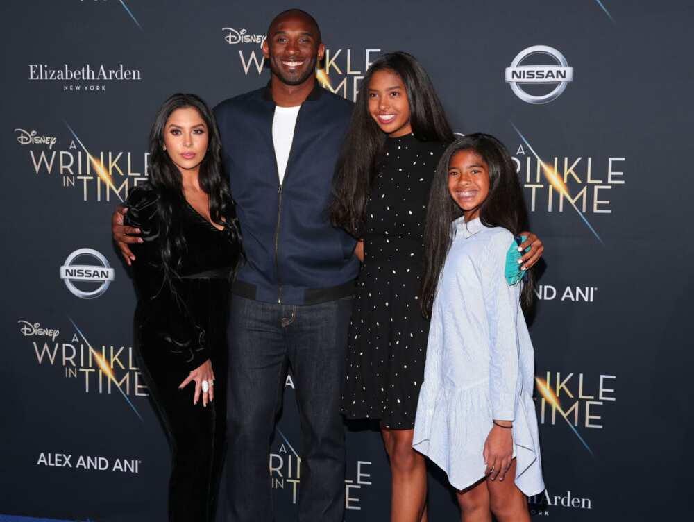 Daughters today kobes Kobe Bryant's