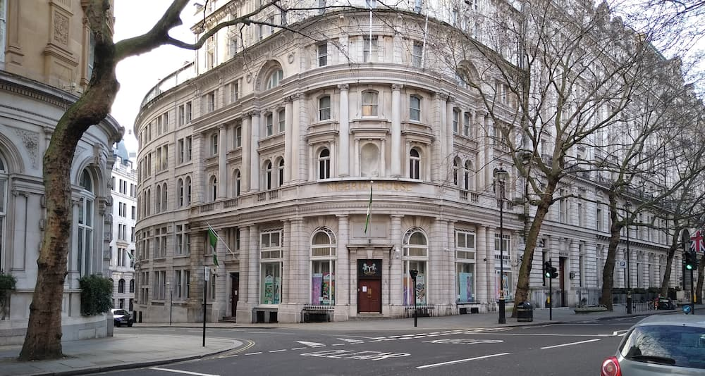 Front view of the Nigerian high commission in London