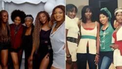 Omotola, Ini Edo, Uche Jombo and Rita Dominic reunite at Genevieve's 40th birthday party (photos)