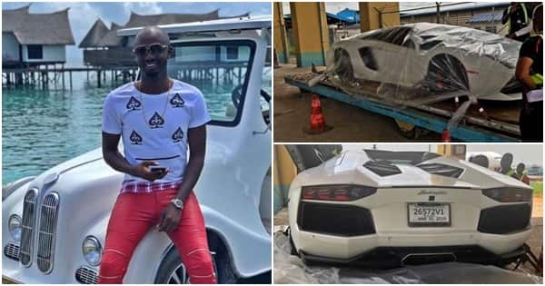 Young Nigerian billionaire acquires 2nd Lamborghini Aventador worth N115m for birthday (photos)