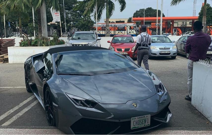 Lamborghini stolen in Switzerland found in Ghana with Nigerian plate number
