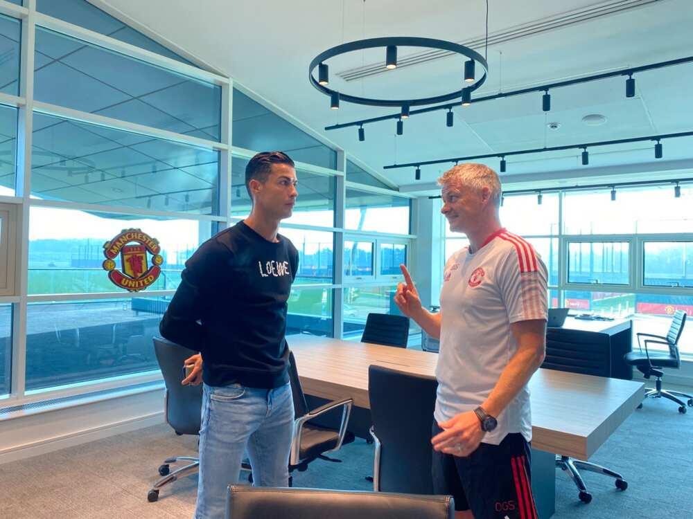 Ole Solskjaer and Ronaldo