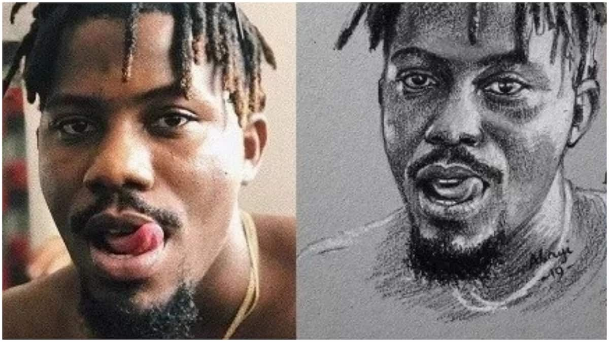 Im not kevin hart rapper ycee replies troll who tried to make him buy a pencil sketch ▷ legit ng
