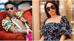 Everybody dey mad: Wizkid reacts as Toke Makinwa says DJ's used to send him to buy food before fame